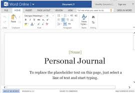 Diary Format Template Personal Journal Template For Word Online