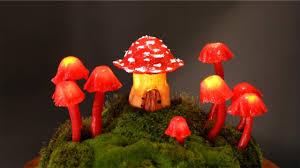 diy fairy garden mushroom lights