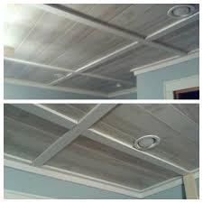 easy eye basement lighting. Basement Ceiling Need To Keep Access Plumbing So Used White Washed Paneling Cut Into Halves Attached But Screws Where We Needu2026 Easy Eye Lighting