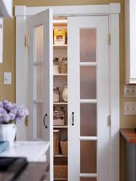 food pantry doors-Frosted-Glass Pantry Door inserts obscure what's inside  so the pantry