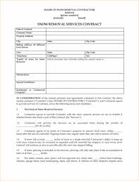 Contract Paper Sample Snow Removalct Sample Free Commercial Template Agreement Form Free 14