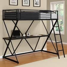 dhp x twin metal loft bed over desk workstation black
