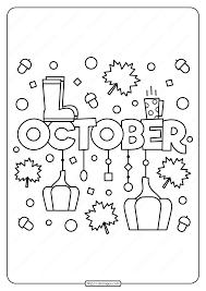 Super cute, free printable state coloring pages for kids to learn about all 50 states with a fun, no each state coloring sheet includes a state map, state flags, state flower, state bird, state landmark. Free Printable October Pdf Coloring Page Fall Coloring Pages Quote Coloring Pages Coloring Pages For Kids