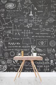 Scientific Chalkboard Effect Wall Mural | Chalkboards, Wallpaper ...