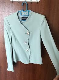 Armani Light Blue Suit Emporio Armani Jacket Light Blue Colour Womens Fashion