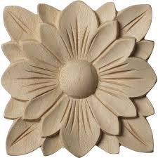 decorative wood edging rosettes appliques onlays carvings millwork 1 866  571 6528