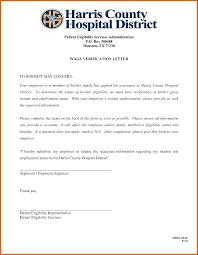 Employment Income Verification Letter 10 Infoe Link