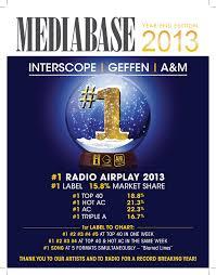 Mediabase 2013 Year End Review Media Monitors