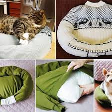 diy easy to make cat bed if your cats are taking over the bed then put this near it or next to it and it should help to keep them off