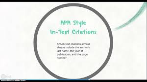 Mla And Apa In Text Citations