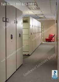 office and storage space. spacesaver high density storage saves space and organizes small office areas