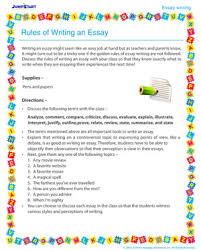 rules of writing an essay elementary activity on writing an rules of writing an essay