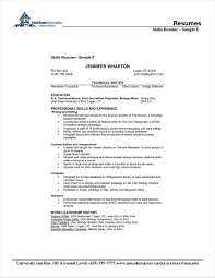 Good Resume Skills To List Nousway