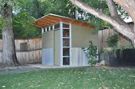 modern shed corrugated metal siding on part of exterior only plans