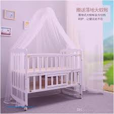 2016 new folding bed multifunction wood crib baby bed height