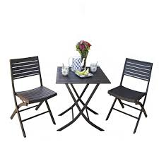 folding outdoor bistro table and chairs designs