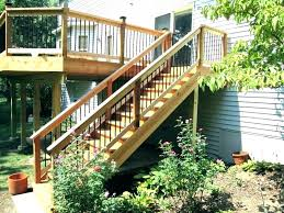 deck staircase designs ideas stair railing design wood and iron porch handrail new step d