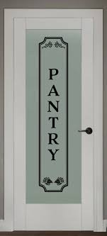 details about pantry vinyl wall decal glass door kitchen decor vinyl lettering frame sign