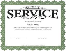 Free Years Service Award Certificate Templates Choice Image Year ...