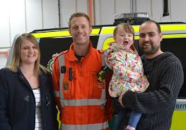 Two year old Aurora-Mae meets the team who saved her life - Great Western  Air Ambulance Charity