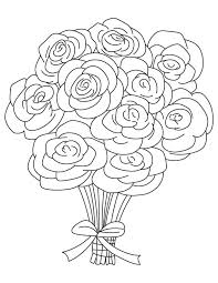 Small Picture Rose Coloring Pages Printable Awesome Free Happy Valentine Rose