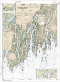 Noaa Chart 13295 Noaa Chart Damariscotta Sheepscot And Kennebec Rivers South Bristol Harbor Christmas Cove 13293