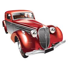 Classic Car Clipart Lady Collection