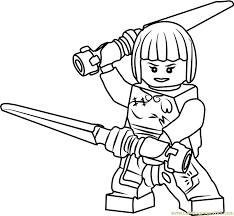 Small Picture Ninjago Nya Coloring Page Free Lego Ninjago Coloring Pages
