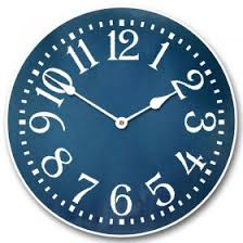 Dapper Blue Kids Wall Clock Dapper Blue Kids Wall Clock