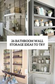 The simplicity of the pattern is part of its charm. 26 Simple Bathroom Wall Storage Ideas Shelterness