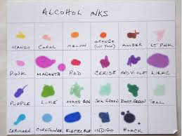 Adirondack Alcohol Ink Colour Chart Diy Alcohol Inks From Sharpies Experiments And Tips