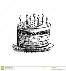 Birthday Cake Drawing Cartoon Pencil Autocad Banana Sikhe Come With