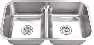 8123mld 32x18x8 Low Divider 5050 18 Gauge Double Equal Bowl