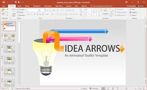 Animated Light Bulb Diagrams Powerpoint Template