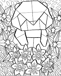 Origami Panda Coloring Page