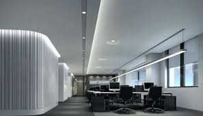 Light Contemporary Commercial Office Lighting Design Ideas Light