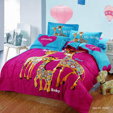 2018 100 cotton kids cartoon print giraffe bedding set with quilt duvet cover bed sheet pillowcase kings queen twin size from hhaliqiqin