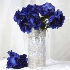 60 silk peony navy silk flowers factory