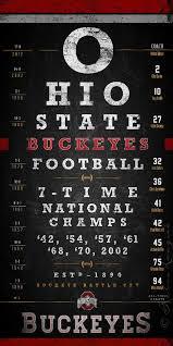Ohio State Buckeyes Eye Chart Chalkboard Lets Make That 8