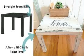 chalk paint vs ikea furniture interiors to inspire how to paint wicker baskets with chalk an easy coffee table makeover