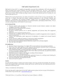 Templates Resume For Auditor Sample Public Accounting Job