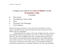 lady of shalott essaycritical essay on the lady of shalott