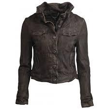 arum denim style suede jacket in teak brown