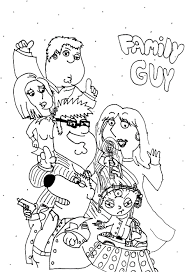 Small Picture Free Printable Coloring Pages Of Family Guy Coloring Pages Ideas