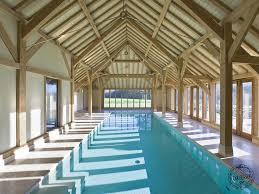 indoor pool house. An Oak Framed Garage, Swimming Pool House, And Barn Indoor House