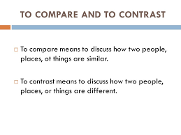 Compare Two People Essay Comparison And Contrast Essay Ppt Download