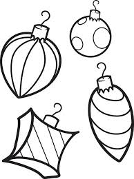 Small Picture 4 Christmas Decoration Coloring Pages Free Printable Coloring