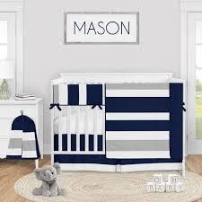 navy blue and grey stripe baby boy