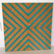 image of coloured cork wall tiles