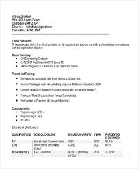 40 Best Fresher Resume Templates PDF DOC Free Premium Templates Extraordinary Resume Of Civil Engineer Fresher